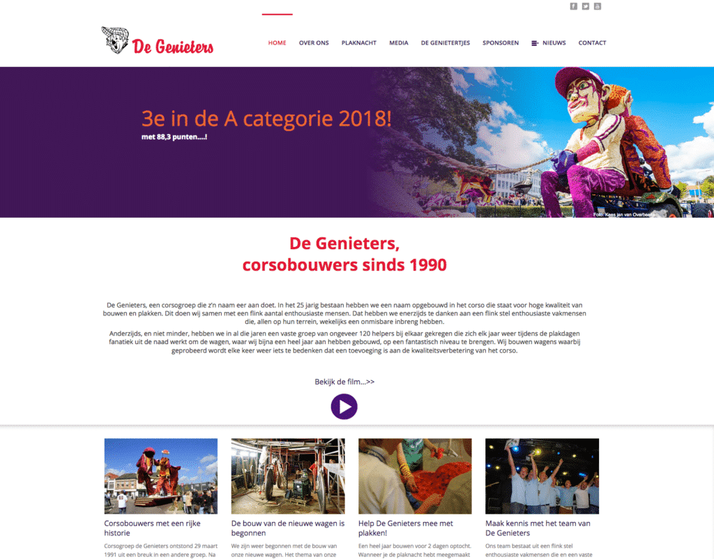 Website De Genieters Winterswijk