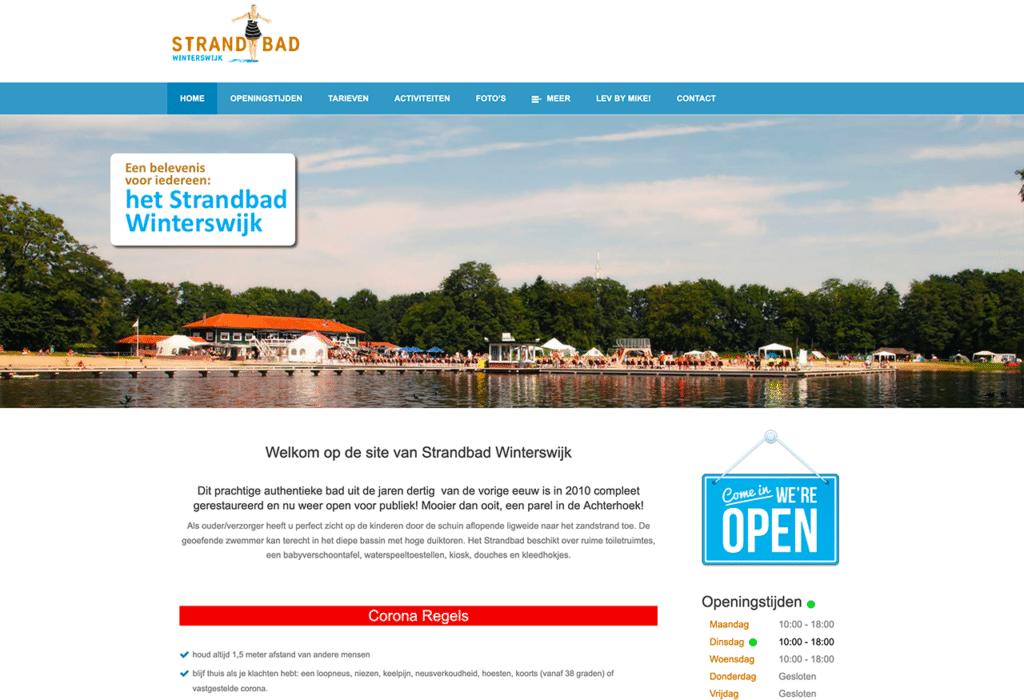 Strandbad Winterswijk website 2020